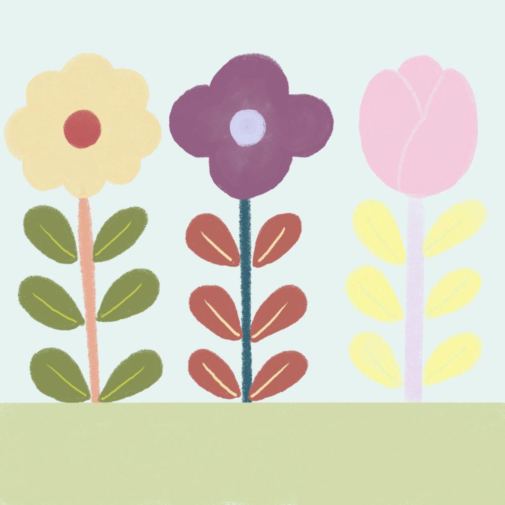 CLASS101のミッションのお花イラスト