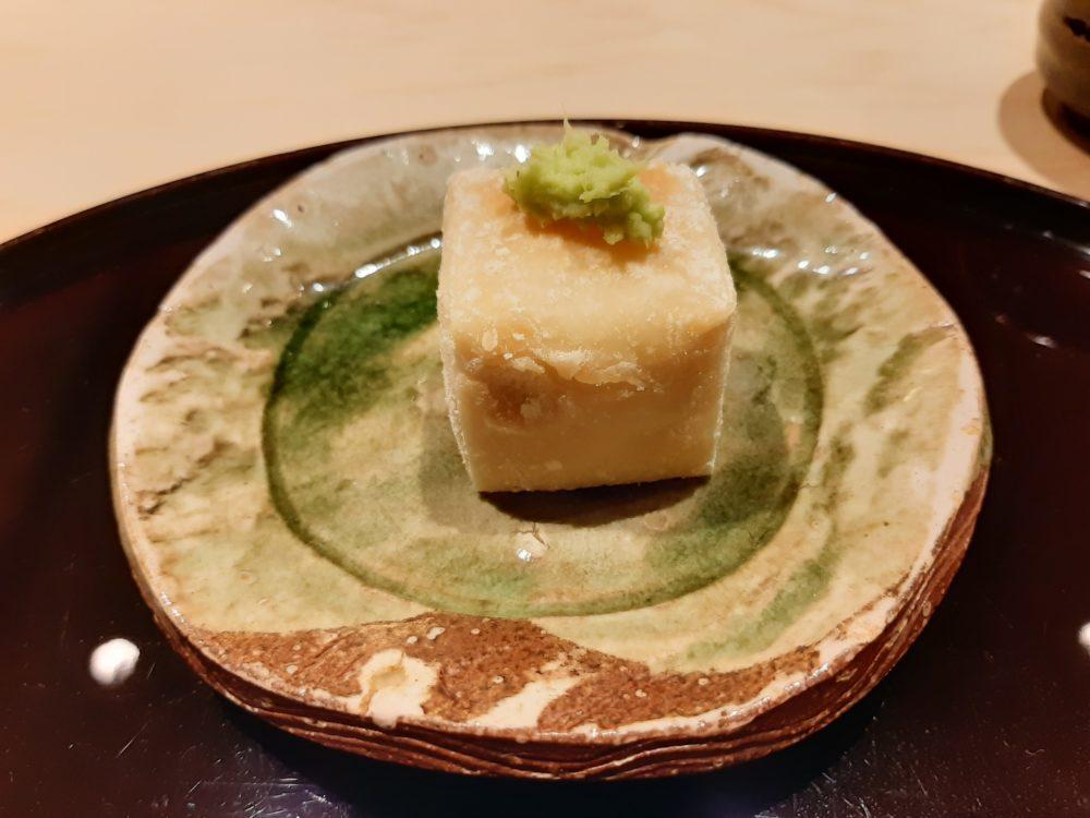 銀座うち山の焼き胡麻豆腐